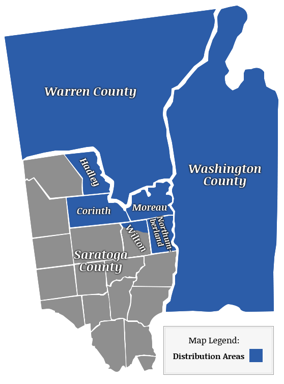 County Map of Service Area